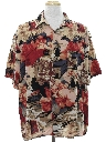 Mens Wicked 90s Hawaiian Style Graphic Print Sport Shirt