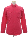 Mens Totally 80s Preppy Western Shirt