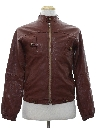 Mens Totally 80s Leather Cafe Racer Style Jacket