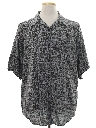 Mens Totally 80s Rayon Graphic Print Shirt