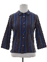 Womens Mod Striped Shirt