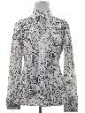 Womens Mod Op-Art Print Disco Style Shirt