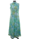 Womens Mod A-Line Maxi Dress