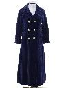 Womens Mod Velvet Maxi Coat
