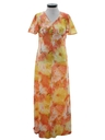 Womens A-Line Mod Maxi Dress