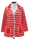 Womens Mod Knit Sweater Jacket