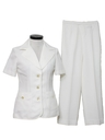 Womens Mod White Pantsuit