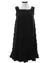 Womens A-Line Little Black Dress