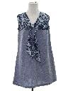 Womens A-Line Hippie Style Mini Dress