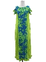 Womens Hawaiian Plantation Style Maxi Dress