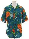 Mens Pow-Flower Print Hippie Shirt