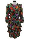 Womens Totally 80s Silk Prom Dress