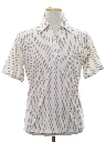 Mens Resort Wear Style Subtle Print Disco Shirt