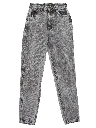 Womens/Girls Totally 80s Acid Washed Jeans Denim Pants
