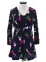 Womens Mod Knit Mini Dress