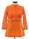 Womens Mod Knit Micro Mini Dress