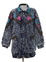 Womens Totally 80s Acid Wash Denim Jacket