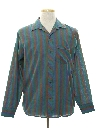 Mens Totally 80s Designer Striped Sport Shirt