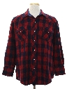 Mens Wool Flannel Western Shirt