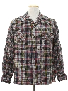 Mens Mod Flannel Sport Shirt Style Board Shirt