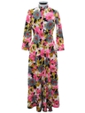 Womens Mod Hawaiian Style Maxi Dress