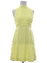 Womens Mod Go-Go Style Dress
