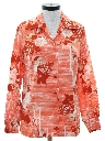 Womens Print Floral Disco Style Shirt