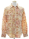 Mens Hippie Style Print Western Shirt