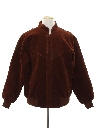 Mens Totally 80s Suede Leather Bomber Jacket