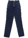 Womens Totally 80s Tapered Leg Slim Fit Denim Jeans Pants