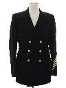 Mens Captain Style Blazer Sport Coat Jacket