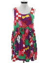 Womens Totally 80s Style Dress