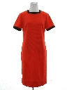 Womens Mod Knit Shift Dress