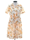 Womens Mod Print Day Dress