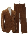 Mens Corduroy Disco Suit