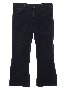 Mens Bellbottom Corduroy Jeans Cut Pants