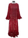 Womens Crocheted Maxi Hippie Dress