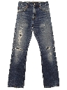 Mens Grunge Levis 517 Bootcut Flared Denim Jeans Pants