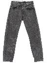 Mens Levis 501 Tapered Leg Denim Acid Washed Jeans Pants