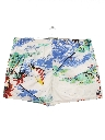 Mens Totally 80s Hawaiian Surf Style Swim Shorts