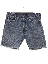 Mens Cut Off Levis 501 Denim Jeans Shorts