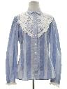 Womens Prairie Style Hippie Shirt