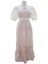 Womens Hippie Style Prairie Maxi Dress