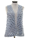 Womens Hippie Crocheted Sweater Vest
