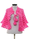 Womens Acrylic Knit Cape or Shawl Style Sweater