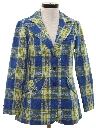 Womens Plaid Blazer Sport Coat Jacket