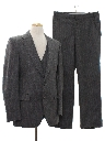 Mens Three Piece Pinstriped Suit