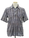 Mens Print Resort Wear Style Disco Shirt