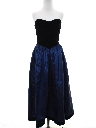 Womens Totally 80s Velvet Prom Or Cocktail Dress