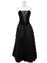 Womens Designer Totally 80s Goth Prom Or Cocktail Dress